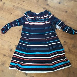 Crown & Ivy striped dress medium NWT